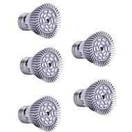 5W E26/E27 LED-kasvivalo 18 Teho-LED 200lm lm Punainen Sininen Koristeltu AC 85-265 V 5 kpl