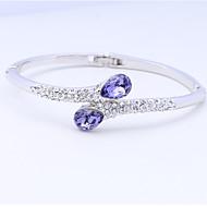 Dames Cuff armbanden Sieraden Natuur Modieus Vintage Met de hand gemaakt Kristal Legering Ovalen vorm Sieraden VoorBruiloft Feest