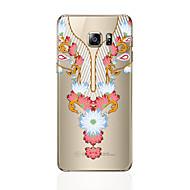 Til samsung galaxy s8 s8 plus telefon cover gennemsigtigt mønster blonder print mønster blødt tpu til Samsung Galaxy s7 s6 kant plus s6