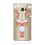 Voor samsung galaxy s8 s8 plus telefoon hoesje transparant patroon kant druk patroon zacht tpu voor Samsung Galaxy S7 s6 rand plus s6 rand