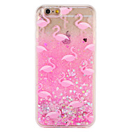 Etui til apple iphone 7 7 plus flamingo glitter glans mønster flydende flydende hard pc 6s plus 6 plus 6s 6