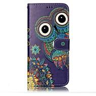 Samsung Galaxy s8 plusz s8 burkolata kártya tulajdonosa pénztárca dombornyomott minta teljes test esetében bagoly kemény PU bőr s7 él s7