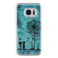 Samsung Galaxy S8 ja s8 puhelimen tapauksessa voikukka kuvio virtaava juoksuhiekkaa neste kimallus muovi pc materia s7 reuna s7