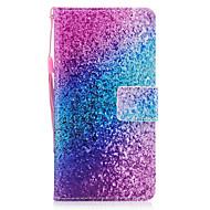Voor Samsung Galaxy A3 A5 (2017) hoesje membraan regenboog zand patroon geverfd pu huid materiaal kaart stent portemonnee telefoon hoesje