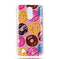 Taske til lg k10 (2017) k8 (2017) dobbelt imd taske bagcover case donut mønster soft tpu