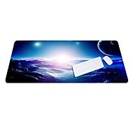Lo6 blå musemåtte overdimensioneret tykkere lås tastatur pad gummi klud 100 * 50cm