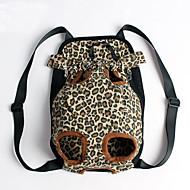 고양이 / 강아지 캐리어&여행용 배낭 / 전면 배낭 애완동물 커버 휴대용 / 레오파드 멀티컬러 옷감