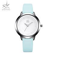 SK Damen Sportuhr Modeuhr Armbanduhr Chinesisch Quartz Schockresistent Großes Ziffernblatt PU Band Cool Bequem Elegante Blau
