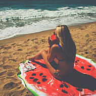 150cm Round  Microfiber Beach Towel Microfiber Watermelon Pattern  Fashion Carpet Yoga Mat Travel Towel