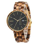Dames Heren Sporthorloge Modieus horloge Vrijetijdshorloge Horloge Hout Unieke creatieve horloge Chinees Kwarts Kalender Waterbestendig