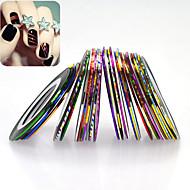 32pcs/set Nail Art 3D Glittter Colorful Laser Striping Tape Line Glitter Foil Stripping Tape DIY Design Manicure Beauty Decoration