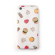 Kotelo apple iphone 7 plus 7 kotelon kuori huurrettu läpikuultava kuvio takakansi puhelin tapauksessa ruoka pehmeä tpu iphone 6s plus 6