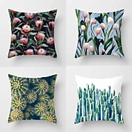 Set Of 4 Fashion Dandelion Tropical Plant Printing Pillow Cover Creative Sofa Cushion Cover Cotton/Linen Pillow Case