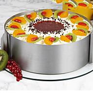 26Τεμάχια/Σετ Καλούπια τούρτας Κυκλικό Νεωτερισμός Για μαγειρικά σκεύη για κέικ Ανοξείδωτο ατσάλι ΑτσάλιΠολυλειτουργία Αντικολλητικό