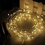 3m 30led 3aa 4.5V elemes vízálló dekorációs led rézdrót fények húr karácsonyi fesztivál lakodalom