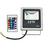 10W LED-projektører 1 Højeffekts-LED 800 lm RGB Fjernstyret Vekselstrøm 85-265 V