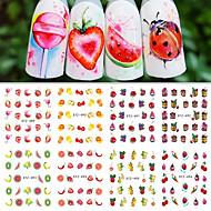 12 Adesivos para Manicure Artística Meninas e Jovens Mulheres Artigos DIY Adesivo maquiagem Cosméticos Designs para Manicure