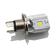 1pcs h4 led motor koplamp gloeilamp hi lo beam rijden drl lamp wit 6000k dc12v-80v