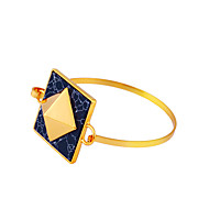 Damskie Bransoletki bangle Biżuteria Przyjaźń Modny Film Biżuteria Hipoalergiczny Pozłacane Stop Square Shape Biżuteria NaParty / Wieczór