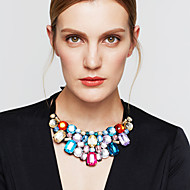 Dame Erklæring Halskæder store halskæder Krystal Smykker Rhinsten Simuleret diamant 18K guld Østrigsk krystalMode Europæisk