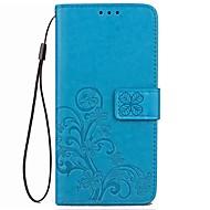 Til Etuier Kortholder Pung Med stativ Flip Præget Heldækkende Etui Helfarve Blomst Hårdt Kunstlæder for XiaomiXiaomi Redmi Note 4X Xiaomi
