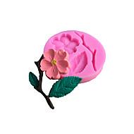 1 darab süteményformákba Kör 3D Virág Mert főzőedények Cake Cookie Folyékony Szilikon Sütés eszköz Letapadásgátló bevonat