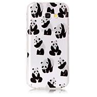Hoesje voor Samsung Galaxy a3 (2017) a5 (2017) hoesje hoesje panda patroon hoog transparant tpu materiaal imd hoesje chiffon telefoon
