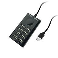 Cwxuan mini 480mbps transmissão de alta velocidade usb 2.0 hub de 8 portas (95cm)