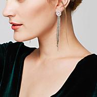 Damskie Kolczyki wiszące Kolczyk Wyrazista biżuteria luksusowa biżuteria Elegancki Długi Długość Wszechświat Modny Miedź Imitacja diamentu