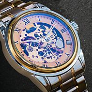 Férfi Ruha óra Divatos óra Karóra Egyedi kreatív Watch Alkalmi óra Japán Automatikus önfelhúzós Naptár Vízálló Üreges gravírozás