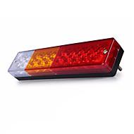 Ziqiao 1adet 12v su geçirmez 20leds atv / kamyon fener lambaları ters ışıklı kuyruk lambası lambası