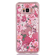 Przypadku samsung galaxy s8 s8 plus obudowa pokrywa kwiat wzór tpu materiał pełny miłość błysku flash proszek quicksand telefon przypadku