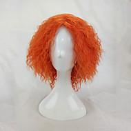 Naisten Synteettiset peruukit Suojuksettomat Lyhyt perverssi Afro Oranssi Cosplay-peruukki puku Peruukit