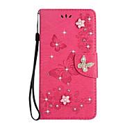 kotelon kannen kortin haltija lompakko tekojalokivi stand flip koko kehon kotelo kiinteä väri perhonen kova pu nahkaa Sony sony xperia xz