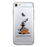 7plus telefonos tok átlátszó mintás hátlap esetén gyümölcs halloween puha tpu az iphone 7 6splus 6plus 6 6s 5 5s se