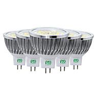 7W LED szpotlámpák MR16 48 SMD 2835 600-700 lm Meleg fehér Hideg fehér Természetes fehér Dekoratív V 5 db.