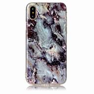 Til iPhone X iPhone 8 iPhone 8 Plus Etuier IMD Bagcover Etui Marmor Blødt TPU for Apple iPhone X iPhone 8  Plus iPhone 8