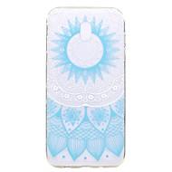 Taske til samsung galaxy j7 2017 j5 2017 case cover blonde print mønster tpu høj renhed gennemsigtig blød telefon taske til j3 2017 j710