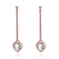 Dame Dråbeøreringe Kvadratisk Zirconium Rhinsten Imiteret Perle Kors Personaliseret Sød Stil luksus smykker kostume smykker Mode Krystal