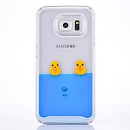 Hoesje voor Samsung Galaxy S6 S6 Rand Case Cover Bells Duck Pattern PC Materiaal Quicksand Telefoon Hoesje