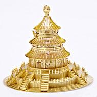Jigsaw Puzzle Fém építőjátékok Építőkockák DIY játékok Körkörös Szélmalom Kínai építészet Ötvözet