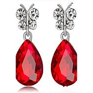 Naisten Pisarakorvakorut jäljitelmä Sapphire jäljitelmä Diamond Muoti Metalliseos Riippua Korut KäyttötarkoitusParty Syntymäpäivä