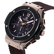 MEGIR Herre Sportsklokke Moteklokke Armbåndsur Unike kreative Watch Hverdagsklokke Klokke Ull Quartz Kalender Silikon BandKul Fritid