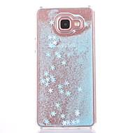 Etui til Samsung Galaxy A710 a510 cover etui snefnug mønster flydende flydende glitter pc materia telefon etui
