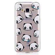 Taske til samsung galaxy j3 j3 (2016) case cover panda mønster malet høj penetration tpu materiale imd proces blødtui telefon etui j5
