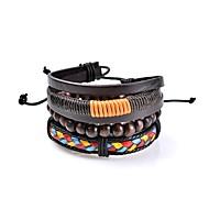 Heren Dames Lederen armbanden Sieraden Liefde Modieus PERSGepersonaliseerd Rock Tweekleurig Gothic Eenvoudige Stijl Kostuum juwelen Leder