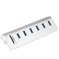 6 Ports USB-hub USB 3.0 USB 3.0 Micro-B Met Card Reader (s) Data Hold Invoer Bescherming Buiten bereik bescherming Data Hub