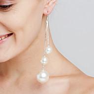 Damskie Kolczyki wiszące Pearl imitacja Modny Osobiste euroamerykańskiej Film Biżuteria luksusowa biżuteria Wyrazista biżuteria Sexy Miedź