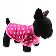 고양이 / 개 티셔츠 레드 강아지 의류 겨울 도트 무늬