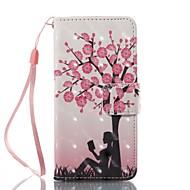 Slučaj za Apple iPod touch 5 touch 6 držač kartica držač novčanik sa stalak flip uzorak cijelo tijelo slučaju drvo hard pu kože